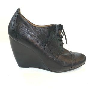 Nine West Clarity Wedge Brogue Oxford Heels 6.5